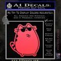 Pusheen Decal Sticker Cat Kitty Sunglasses Stand D2 Pink Vinyl Emblem 120x120