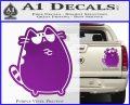Pusheen Decal Sticker Cat Kitty Sunglasses Stand D2 Purple Vinyl 120x97
