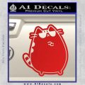 Pusheen Decal Sticker Cat Kitty Sunglasses Stand D2 Red Vinyl 120x120