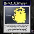 Pusheen Decal Sticker Cat Kitty Sunglasses Stand D2 Yellow Vinyl 120x120
