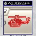 Pusheen Helicopter Decal Sticker Medic Paramedic Pilot Red Vinyl 120x120