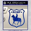 RCMP Decal Sticker Canada Mounted Police Badge Blue Vinyl 120x120