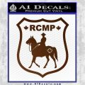 RCMP Decal Sticker Canada Mounted Police Badge Brown Vinyl 120x120