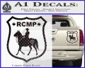 RCMP Decal Sticker Canada Mounted Police Badge Carbon Fiber Black 120x97
