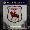 RCMP Decal Sticker Canada Mounted Police Badge Dark Red Vinyl 120x120