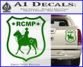 RCMP Decal Sticker Canada Mounted Police Badge Green Vinyl 120x97