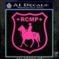 RCMP Decal Sticker Canada Mounted Police Badge Hot Pink Vinyl 120x120