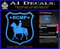 RCMP Decal Sticker Canada Mounted Police Badge Light Blue Vinyl 120x97