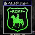 RCMP Decal Sticker Canada Mounted Police Badge Lime Green Vinyl 120x120