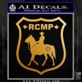 RCMP Decal Sticker Canada Mounted Police Badge Metallic Gold Vinyl 120x120