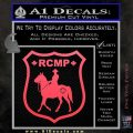 RCMP Decal Sticker Canada Mounted Police Badge Pink Vinyl Emblem 120x120