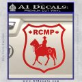 RCMP Decal Sticker Canada Mounted Police Badge Red Vinyl 120x120