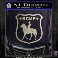 RCMP Decal Sticker Canada Mounted Police Badge Silver Vinyl 120x120