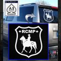 RCMP Decal Sticker Canada Mounted Police Badge White Vinyl Emblem 120x120