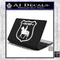 RCMP Decal Sticker Canada Mounted Police Badge White Vinyl Laptop 120x120