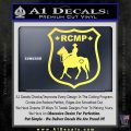 RCMP Decal Sticker Canada Mounted Police Badge Yellow Vinyl 120x120