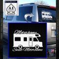 RV Camper Decal Sticker Motorhome Sweet Motorhome White Vinyl Emblem 120x120