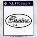 Raiders Decal Sticker OVT Black Vinyl Logo Emblem 120x120
