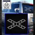 Rebel Flag X Decal Sticker DN White Vinyl Emblem 120x120