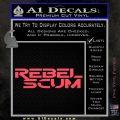 Rebel Scum Decal Sticker Pink Vinyl Emblem 120x120