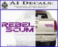 Rebel Scum Decal Sticker Purple Vinyl 120x97