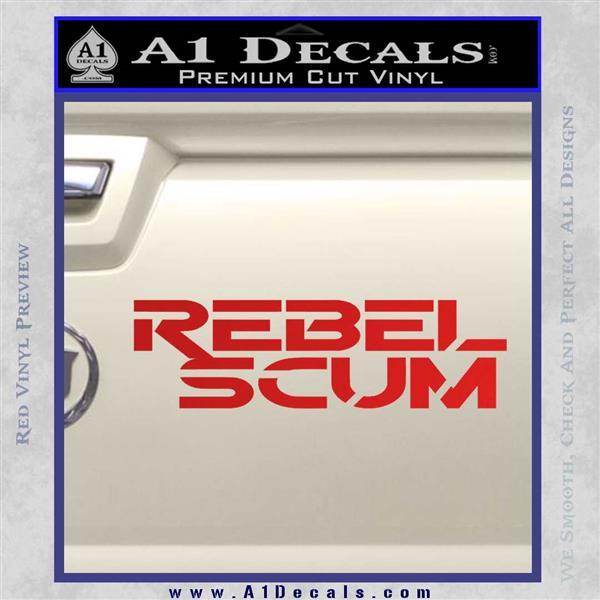 Rebel Scum Decal Sticker Red Vinyl