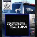 Rebel Scum Decal Sticker White Vinyl Emblem 120x120