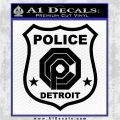 Robocop OCP Police Badge Decal Sticker Original Black Vinyl Logo Emblem 120x120
