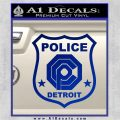 Robocop OCP Police Badge Decal Sticker Original Blue Vinyl 120x120