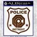 Robocop OCP Police Badge Decal Sticker Original Brown Vinyl 120x120
