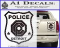 Robocop OCP Police Badge Decal Sticker Original Carbon Fiber Black 120x97
