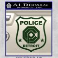 Robocop OCP Police Badge Decal Sticker Original Dark Green Vinyl 120x120