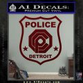 Robocop OCP Police Badge Decal Sticker Original Dark Red Vinyl 120x120