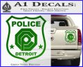Robocop OCP Police Badge Decal Sticker Original Green Vinyl 120x97