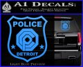 Robocop OCP Police Badge Decal Sticker Original Light Blue Vinyl 120x97