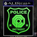 Robocop OCP Police Badge Decal Sticker Original Lime Green Vinyl 120x120