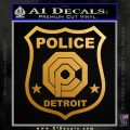 Robocop OCP Police Badge Decal Sticker Original Metallic Gold Vinyl 120x120