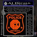 Robocop OCP Police Badge Decal Sticker Original Orange Vinyl Emblem 120x120