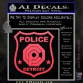 Robocop OCP Police Badge Decal Sticker Original Pink Vinyl Emblem 120x120