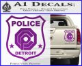 Robocop OCP Police Badge Decal Sticker Original Purple Vinyl 120x97