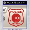 Robocop OCP Police Badge Decal Sticker Original Red Vinyl 120x120