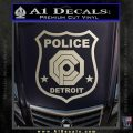 Robocop OCP Police Badge Decal Sticker Original Silver Vinyl 120x120