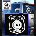 Robocop OCP Police Badge Decal Sticker Original White Vinyl Emblem 120x120
