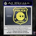 Robocop OCP Police Badge Decal Sticker Original Yellow Vinyl 120x120