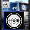 Robocop Tactical SWAT Logo Rifle Scope Decal Sticker White Vinyl Emblem 120x120