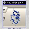 Robot D2 Breaks Wall Decal Sticker Space Battle Blue Vinyl 120x120