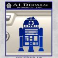 Robot D2 Front Decal Sticker Robot D2 Blue Vinyl 120x120