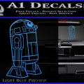 Robot D2 Thin Decal Sticker Light Blue Vinyl 120x120
