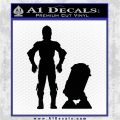 Robot D2 n Robot DC3 Decal Sticker Black Vinyl Logo Emblem 120x120