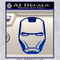 Robotman Helmet Decal Sticker Blue Vinyl 120x120